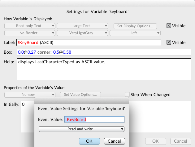 Figure 4. keyboard variable as !KeyBoard HotValue.