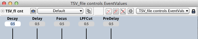 Figure 8. Controlling EventValues with MIDI Script removes them from the VCS.